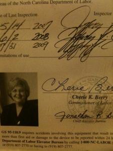 Cherie Berry for Senate?