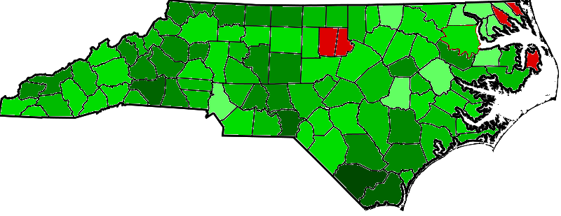 Obama vs. Hagan: A Map