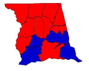 Election 2012 results by precinct, Obama vs. Romney