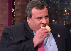 Seen here: Governor Chris Christie (R-NJ) and his Democratic opponent